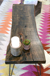 Rustic Live Edge  Distressed Coffee Table