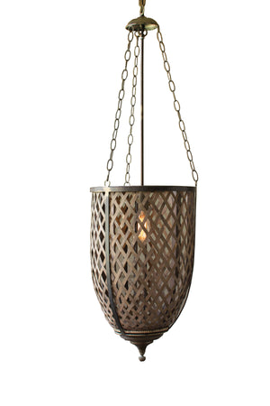 Rustic Industrial Modern Bamboo and Metal Pendant Lamp Chandelier