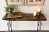 Rustic Live Edge Slab Sofa Hall Table