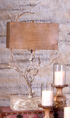 Rustic Lodge Metal Tree Branch Table Lamp