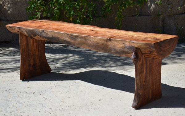 Reclaimed Log Bench Woodwaves