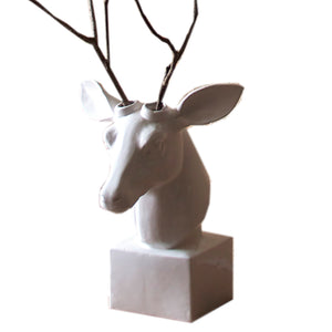 Table Top White Deer Head