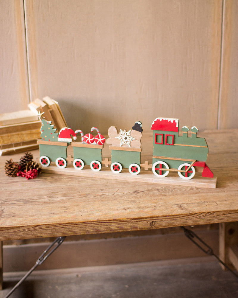 Wood Christmas Train