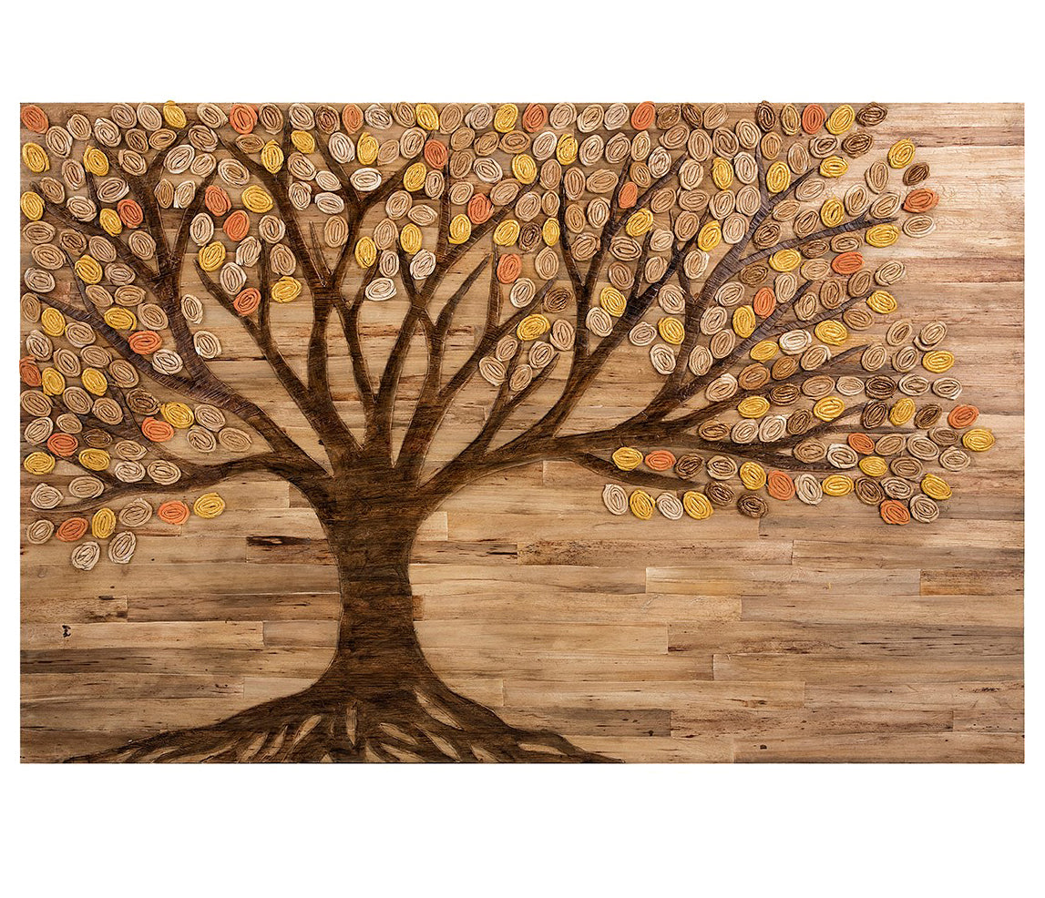 Rustic Wood Inspired Autumn Tree Wall Art