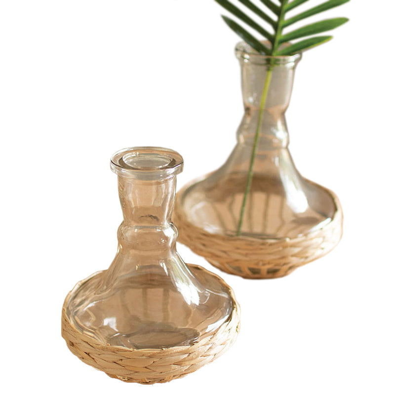 Seagrass Wrapped Boho Vases