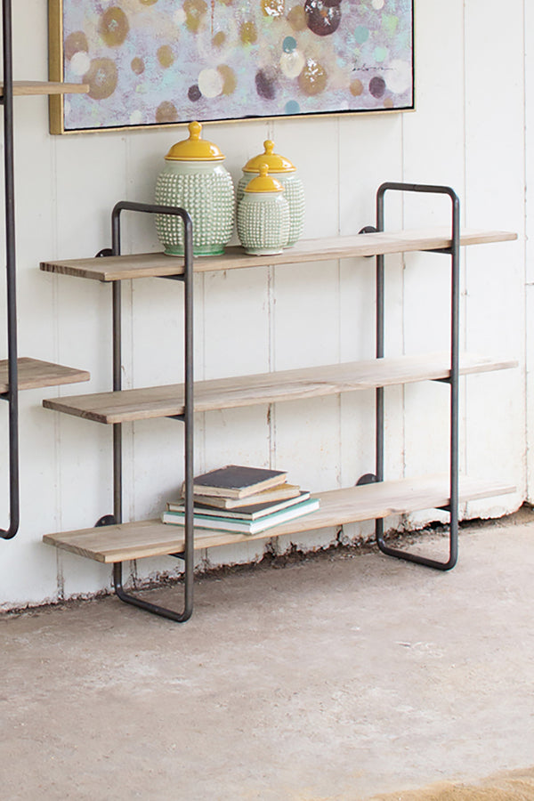 Small Industrial Modern Hanging Wall Shelf Woodwaves