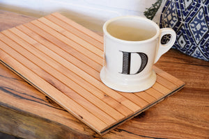 Sofa Tray Table Flexible Wood Slats - Natural