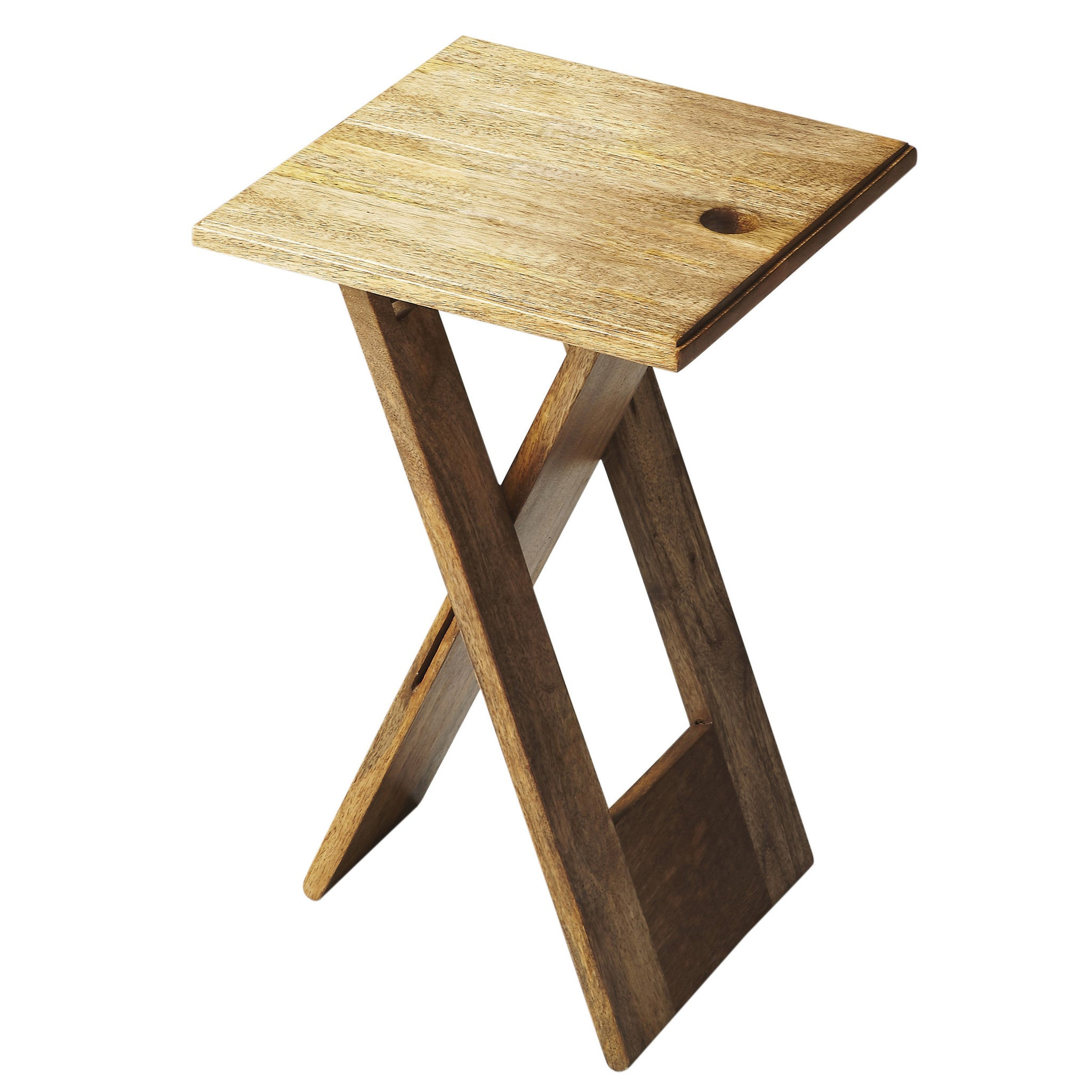 - Small Natural Wood Folding Table - Woodwaves