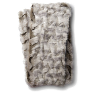 Soft Gray Faux Fur Throw Blanket