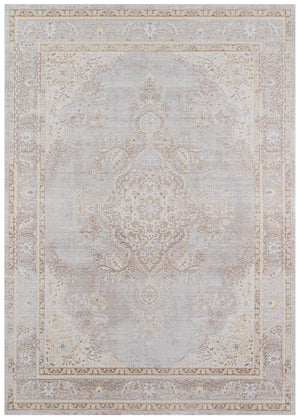 Soft Gray Vintage Style Rug