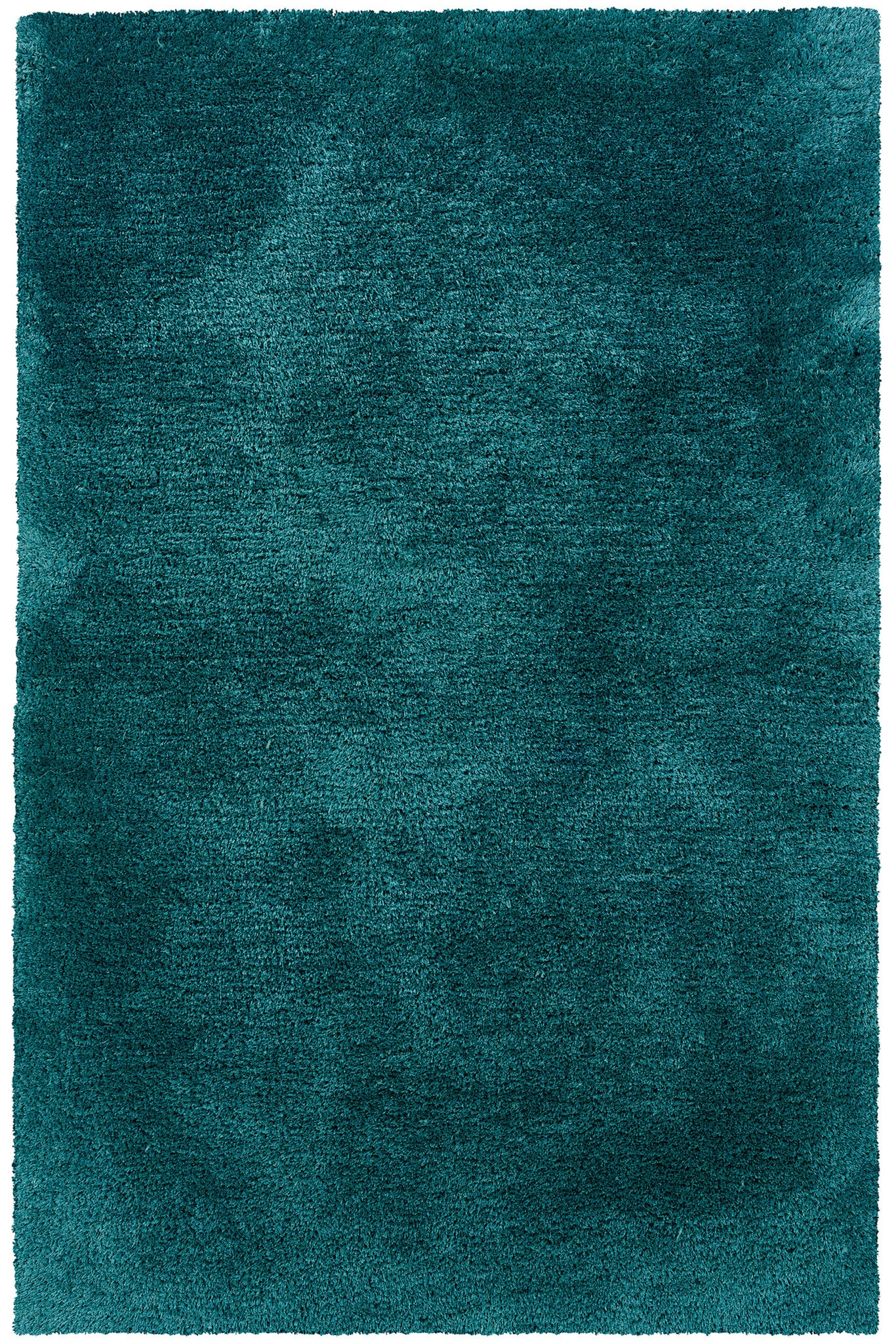 solid teal blue plush shag rug