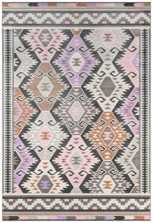Southwest Boho Faded Pink Rug - Novogratz Terrace Multi