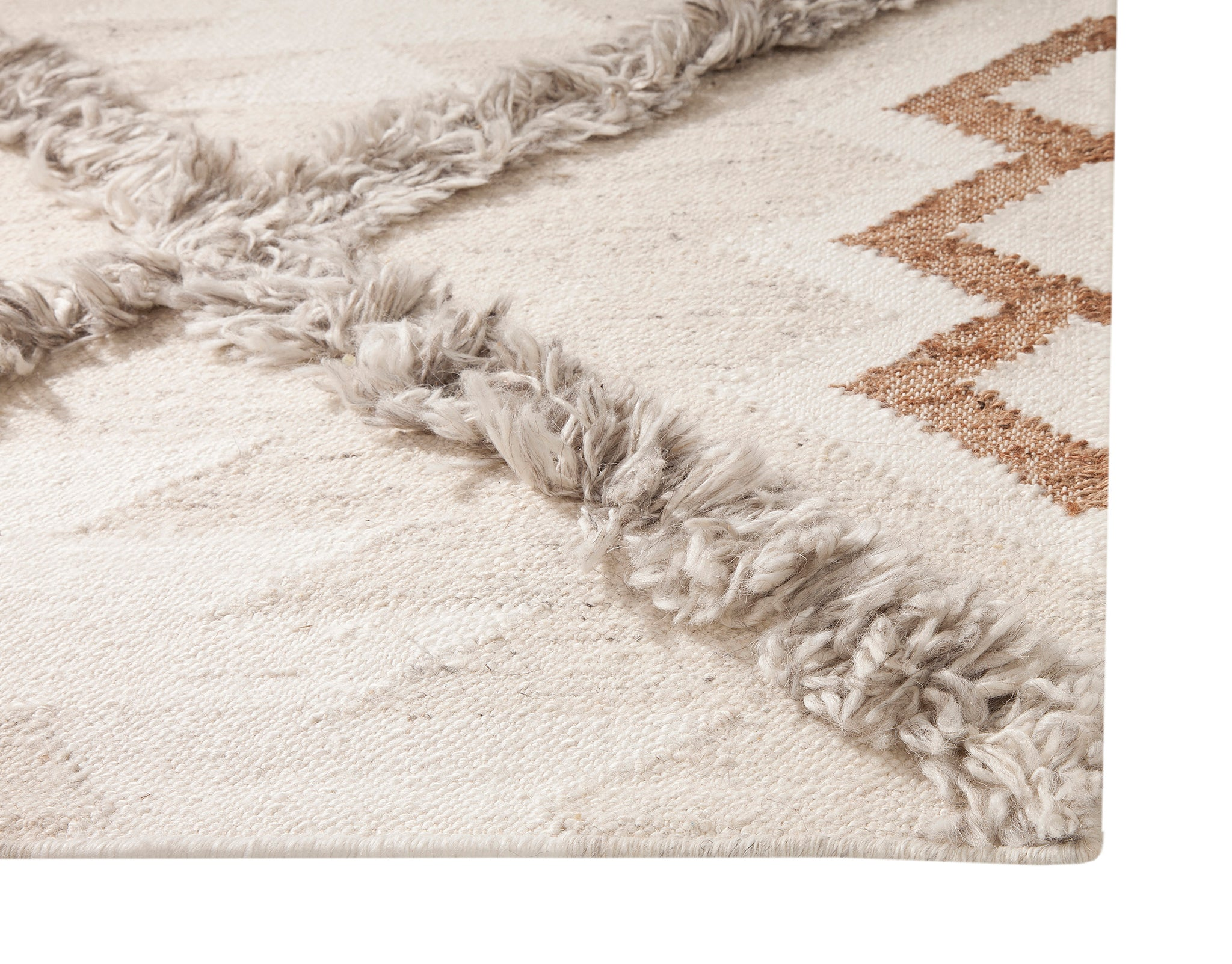 Southwest Boho Modern Neutral Flatweave Wool Area Rug