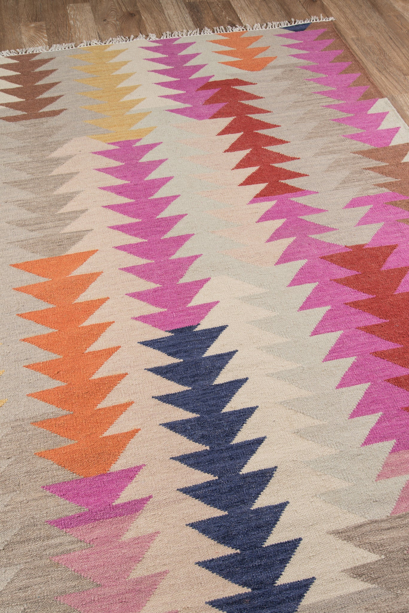 garden handmade product flat free nuloom chevron rug flatweave today weave herringbone x cotton home overstock shipping