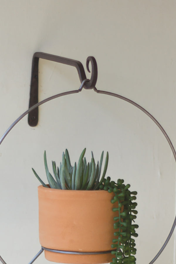 Southwest Hanging Clay Planter Round Woodwaves