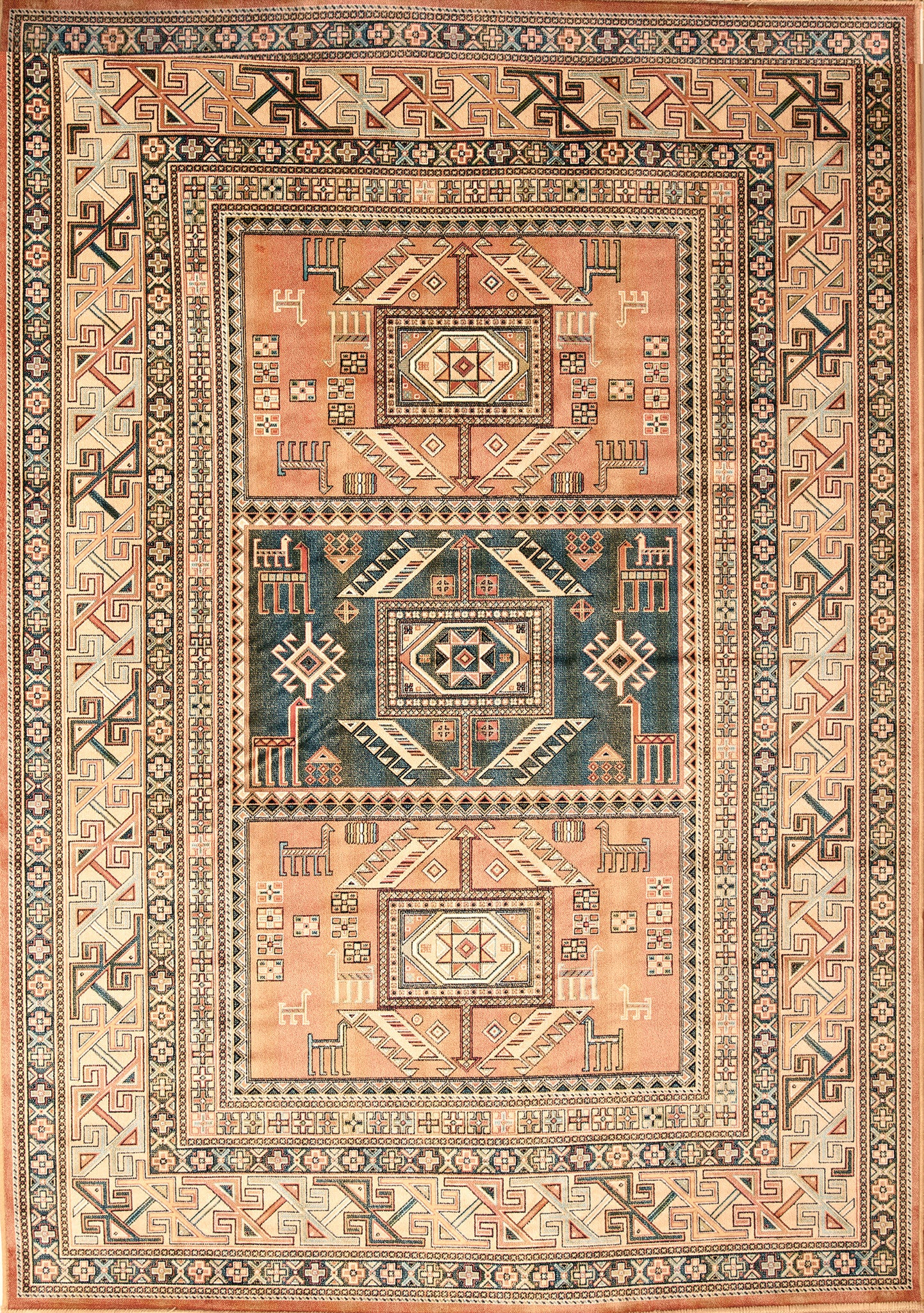 Southwest Santa Fe New Mexico Copper Colored Rug