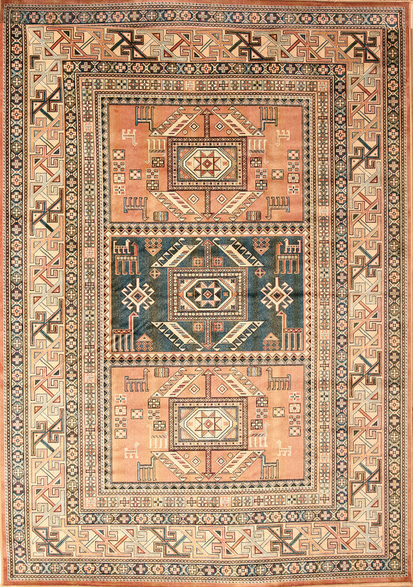 Southwest Santa Fe New Mexico Copper Colored Rug Woodwaves