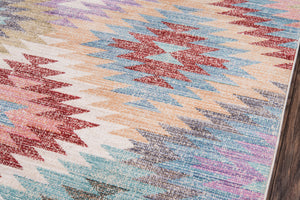Southwest New Mexico Pink Teal Blue Rug