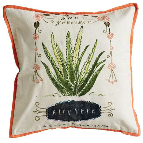 Cactus Succulent Boho Southwest Pillow