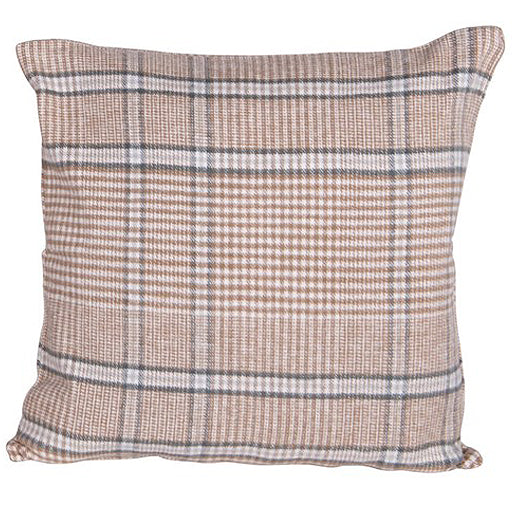 Tan & Gray Plaid Pillow