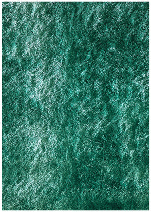 Plush Teal Luxurious Modern Shag Rug
