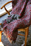Modern Red and Gray Checkered Throw Blanket