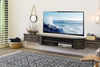 Distressed Antiqued Transitional Floating TV Stand - Vintage - 3 Piece - Driftwood Gray