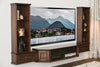 Transitional Wall Mount Floating TV Stand Entertainment Center - Vintage - 3 Piece & Bookcases - Dark