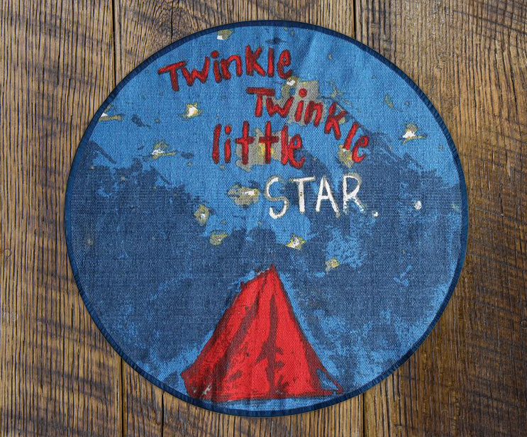Twinkle Twinkle Little Star Round Kids Rug