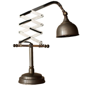 Industrial Vertical Scissor Table Lamp