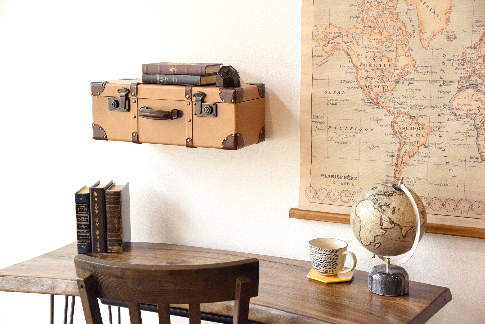 Hanging Wall Shelf hanging floating wall mount nightstand - curve - espresso - woodwaves