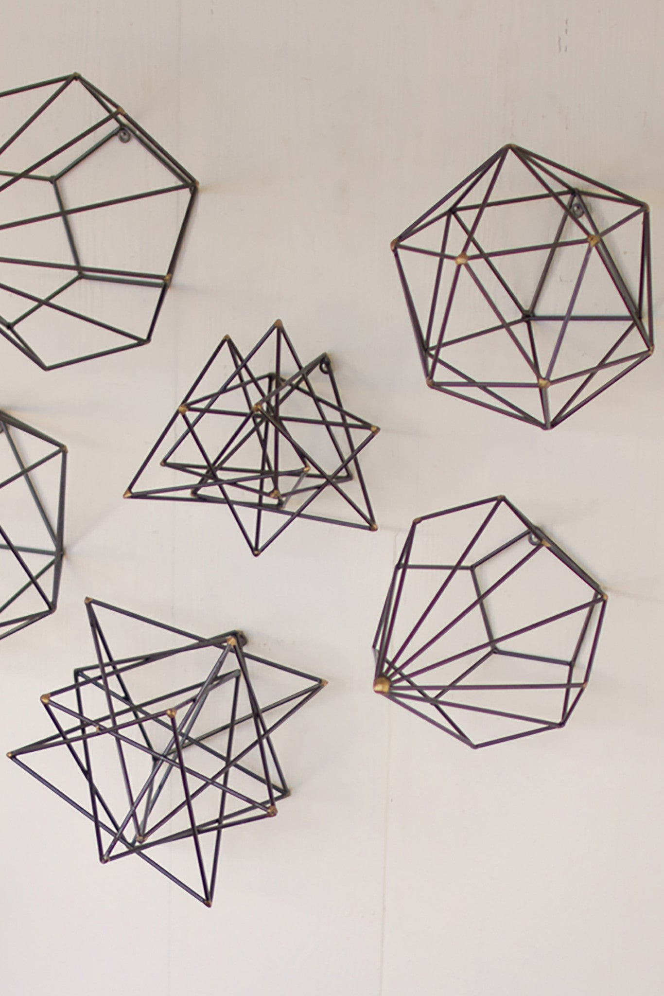 Attrayant Geometric Metal Wire Wall Art   Set Of 6