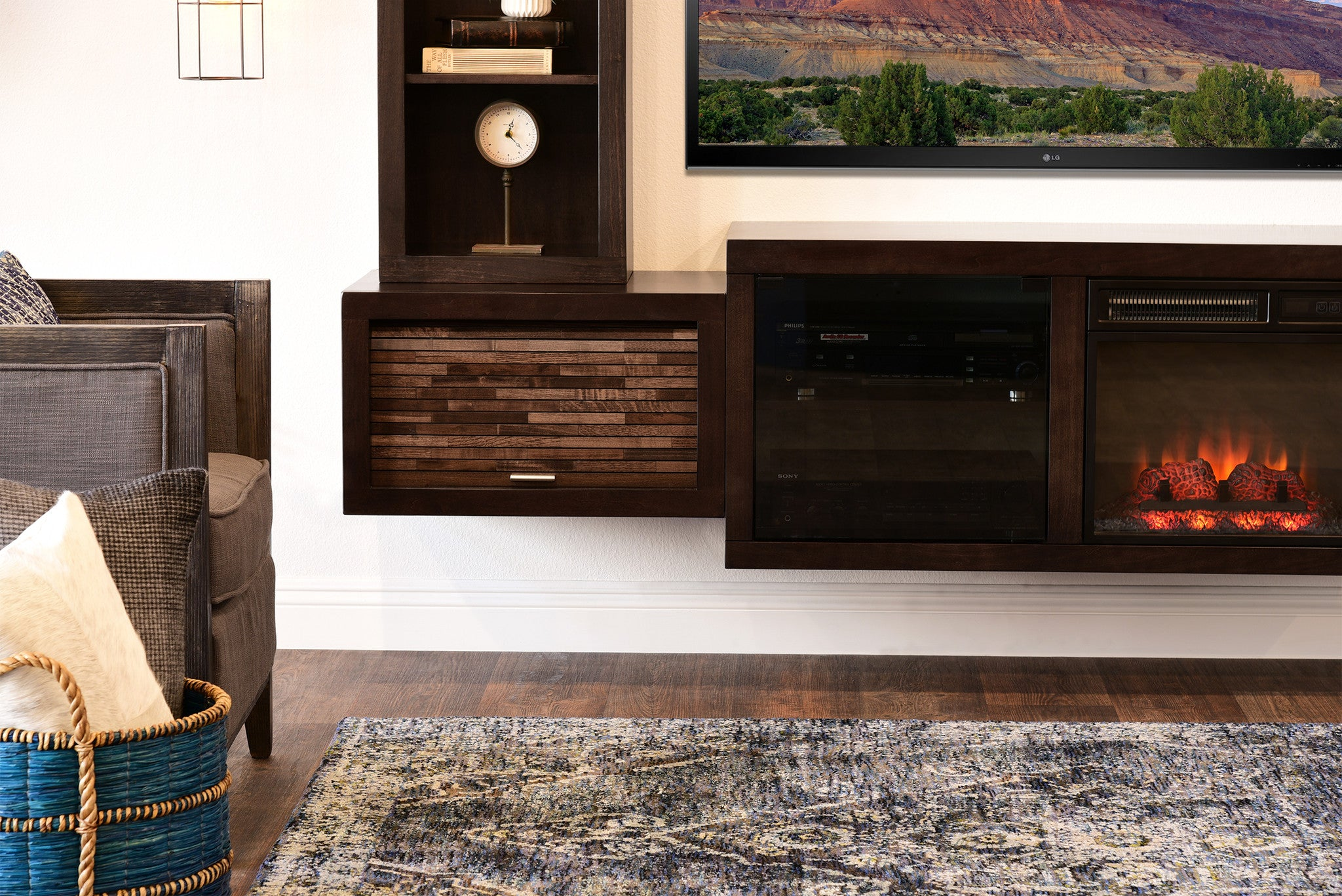 wall mount fireplace tv stand entertainment center eco geo