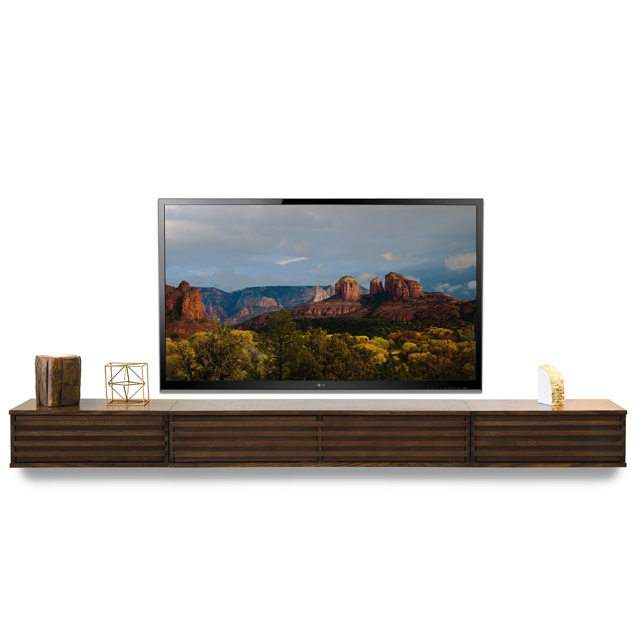 Floating Tv Stand Wall Mount Entertainment Center Lotus