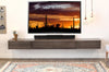 "Floating Wall Mount TV Stand For 60"" to 80"" + TVs - Lotus 3 Piece - Driftwood Gray"