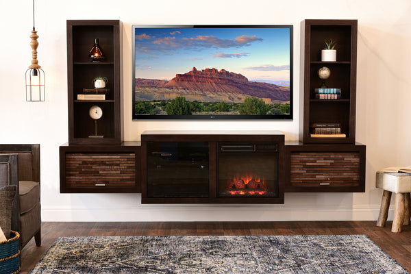 wall mount fireplace stand entertainment center espresso mini walmart electric ideas decorating