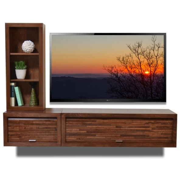 Wall Mount Entertainment Center Tv Console Eco Geo Mocha