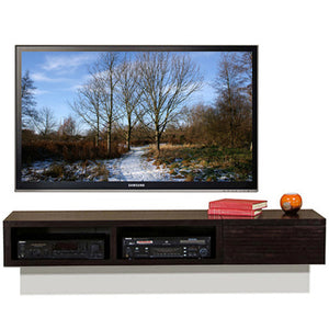 Wall Mounted Entertainment TV Console - Mayan Espresso