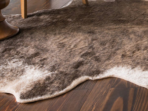 Brown & Tan Cowhide Rug