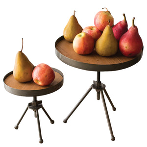 Adjustable Industrial Modern Kitchen Display Stands - Set of 2