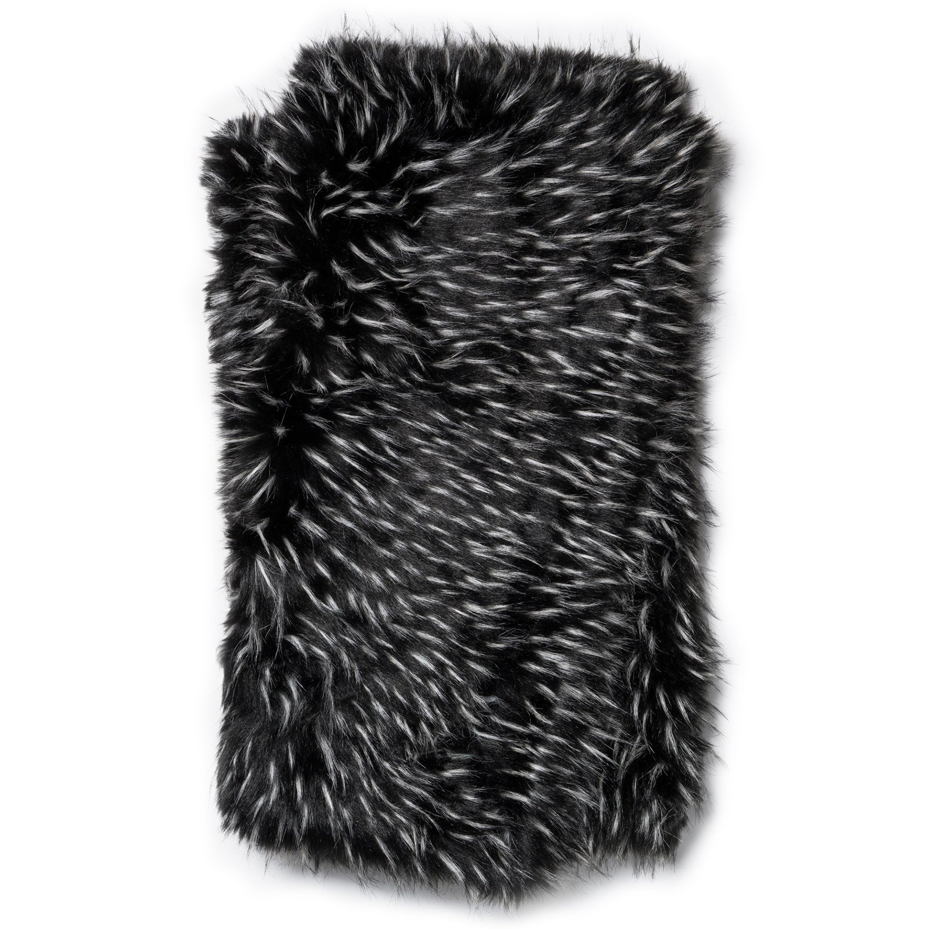 Black and White Faux Fur Throw Blanket