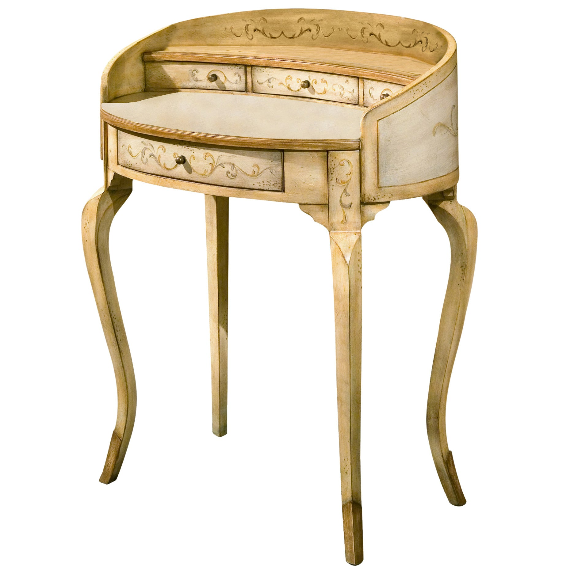 Curved French Cottage Writing Table Desk