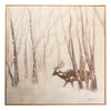 Deer in Woods and Snow Oil Painting