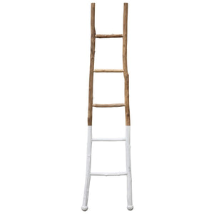 White Dipped Painted Decorative Ladder