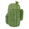Green Cactus Stoneware Cookie Jar