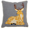 Hand Stitched Laying Deer Pillow