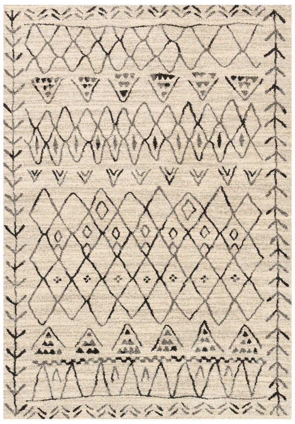 Moroccan Tribal Ivory Criss Cross Area Rug Woodwaves