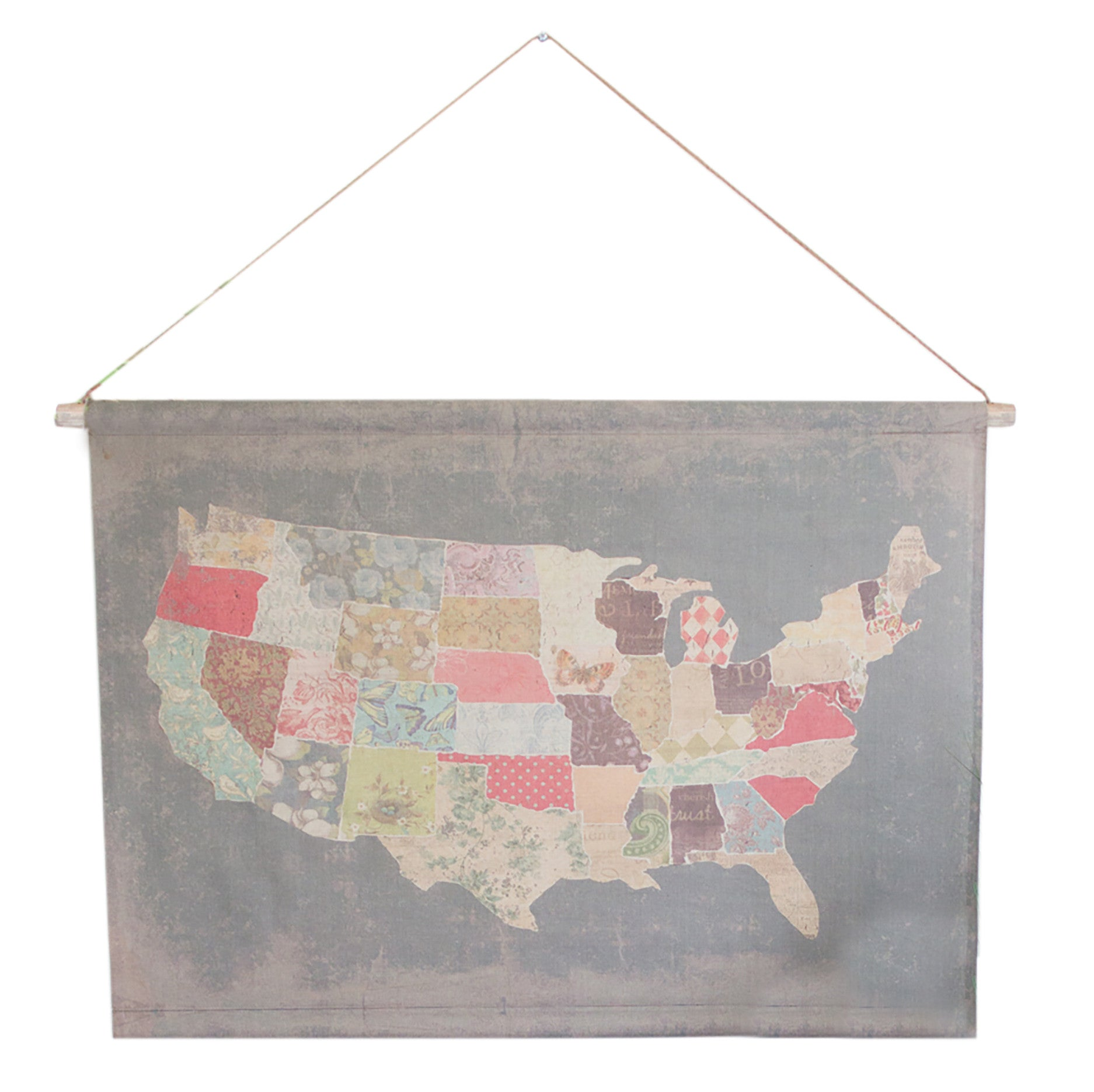USA United States Rustic Colorful Banner Wall Art