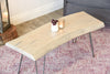 Whitewash Live Edge Slab Coffee Table