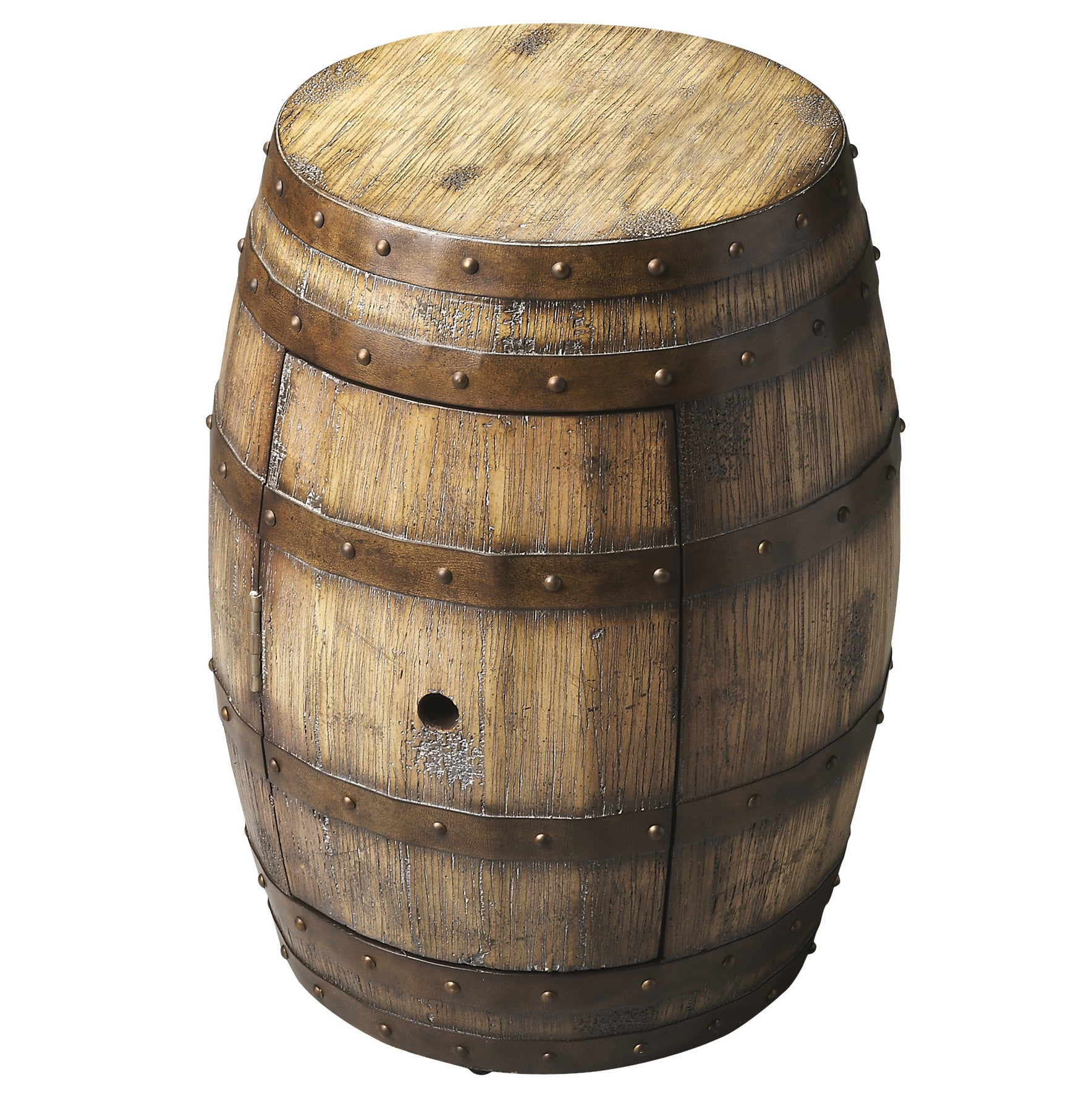 Wine Barrel End Table With Storage Woodwaves